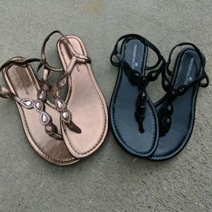 Payless/Montego Bay sandals, set of 2 pairs, sz 6